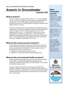 Arsenic in Groundwater