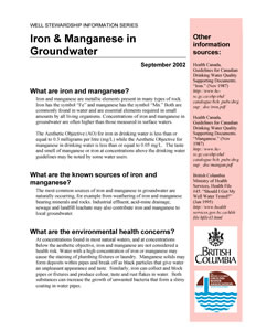Iron & Manganese in Groundwater